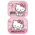 2 cortinas laterais Hello Kitty 44x35 cm