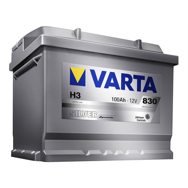 bateria varta h3 silver dynamic 100 ah 830 a. Black Bedroom Furniture Sets. Home Design Ideas